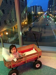 Maggie found her nightly wagon rides very relaxing.